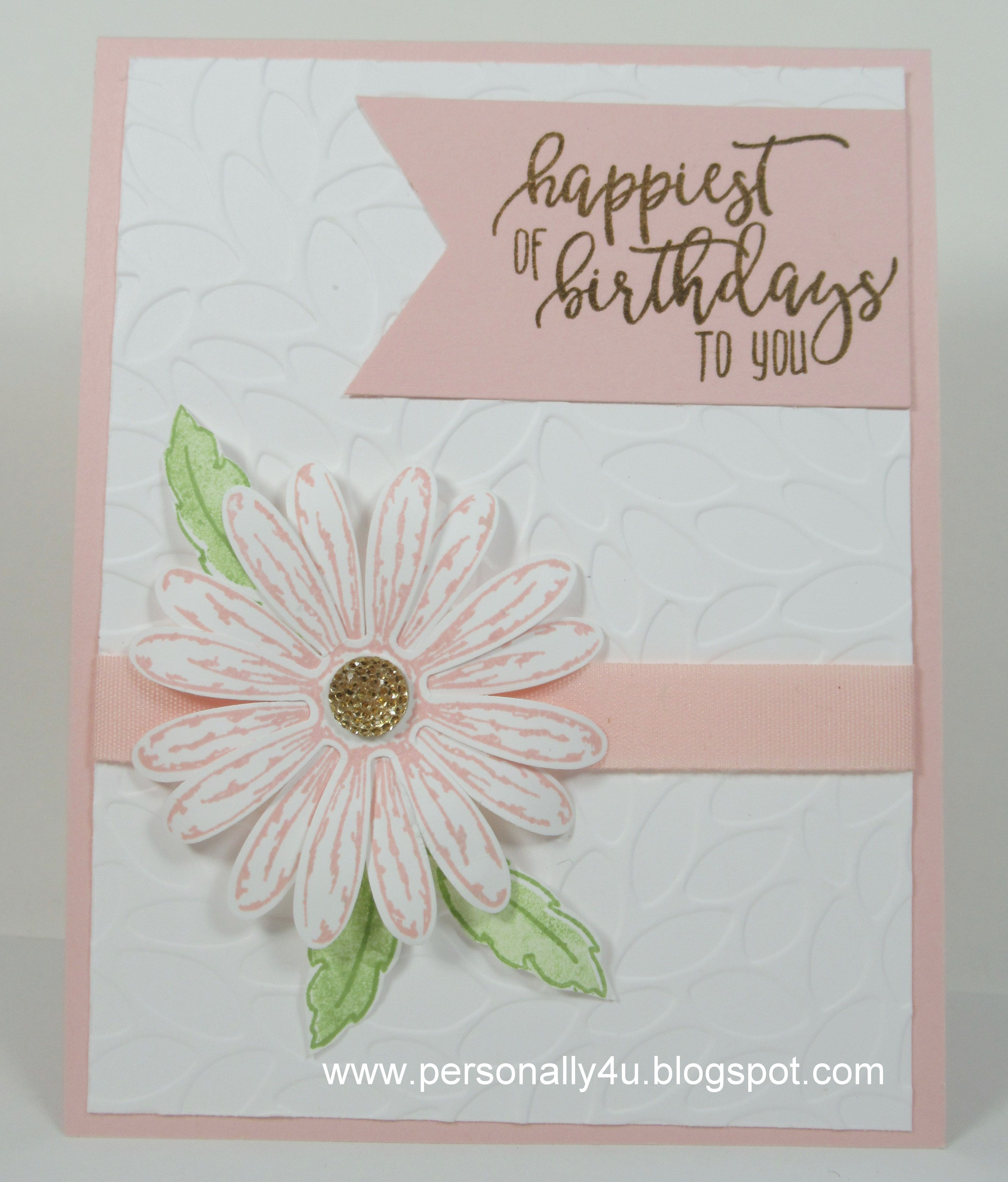 Sharing A Birthday Card I Made For My Boss I Stamped The Daisy From