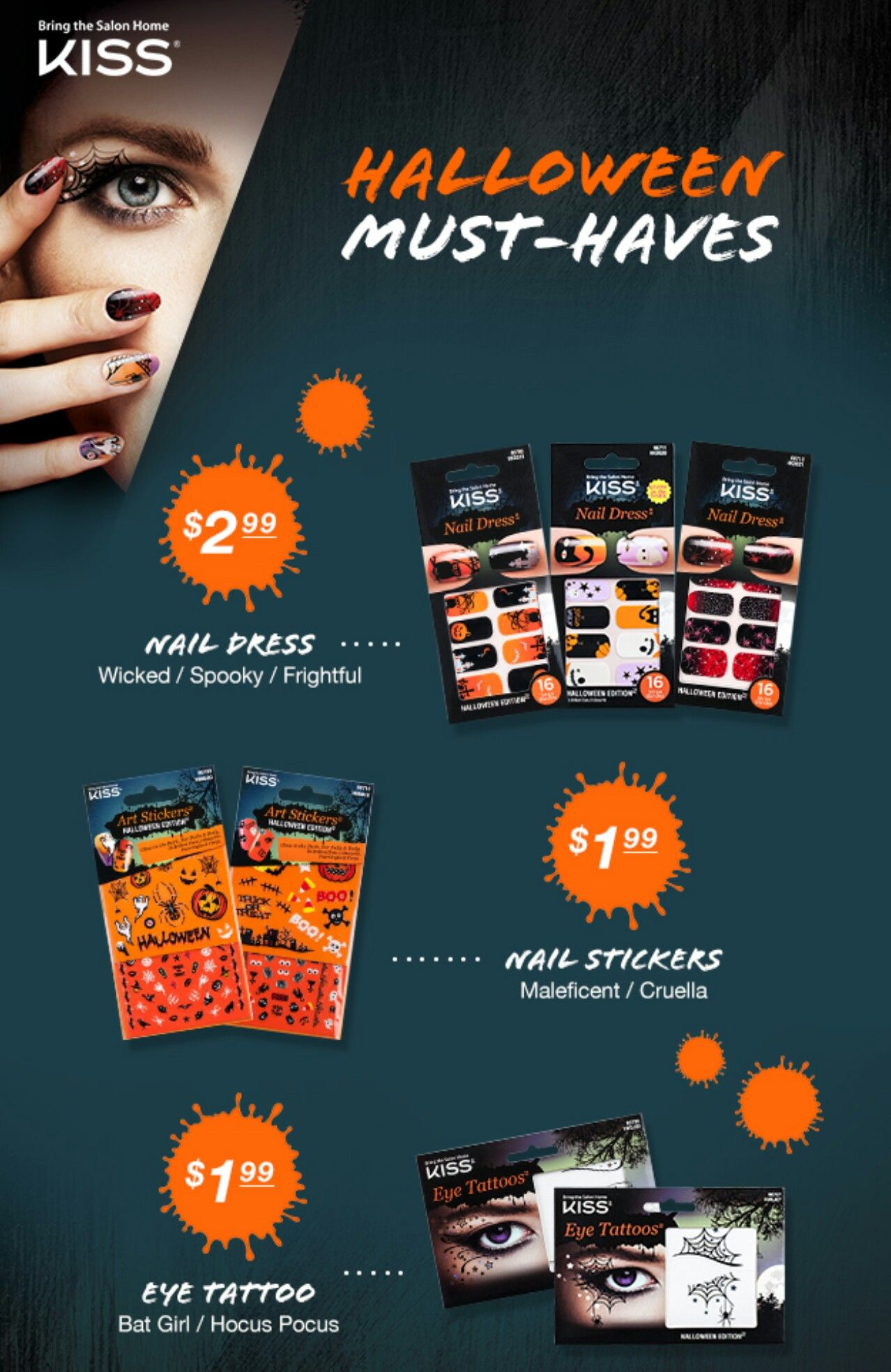 KISS Halloween Must-Haves @kissproducts | Halloween nails ...