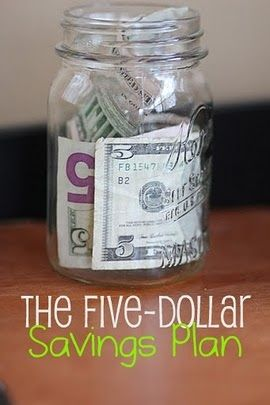 Here S How The 5 Savings Plan Works Whenever A 5 Bill Comes Into Your Possession You Save It In A Special Jar Or E Savings Plan Saving Ideas Helpful Hints