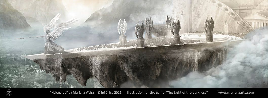 """Illustration for the game """"The Light of the Darkness""""  by Mariana Vieira"""