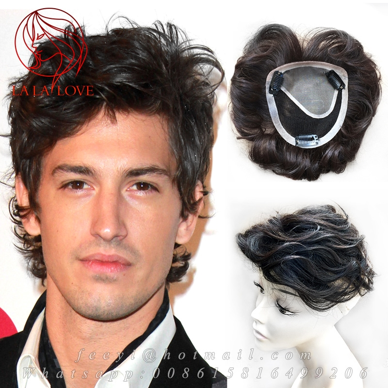 68.98$  Buy now - http://aliwzj.worldwells.pw/go.php?t=32752093883 - Hairnet 12*13cm Hand woven mens toupee 100% Human real hair Replacement System Top Piece men's hair Toupee Hair System For men 68.98$