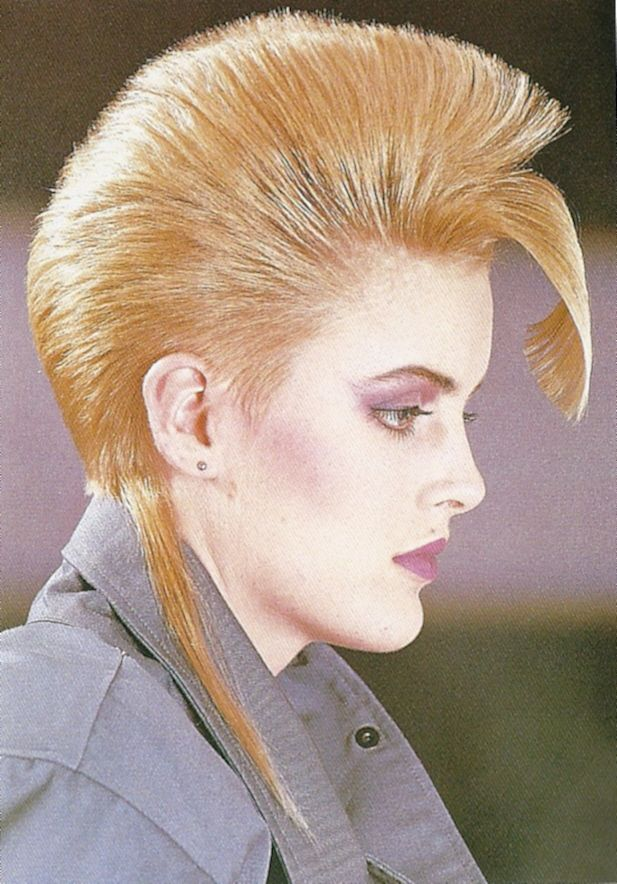 Structured Mohawk Effect With A Rat Tail 1980s Hair