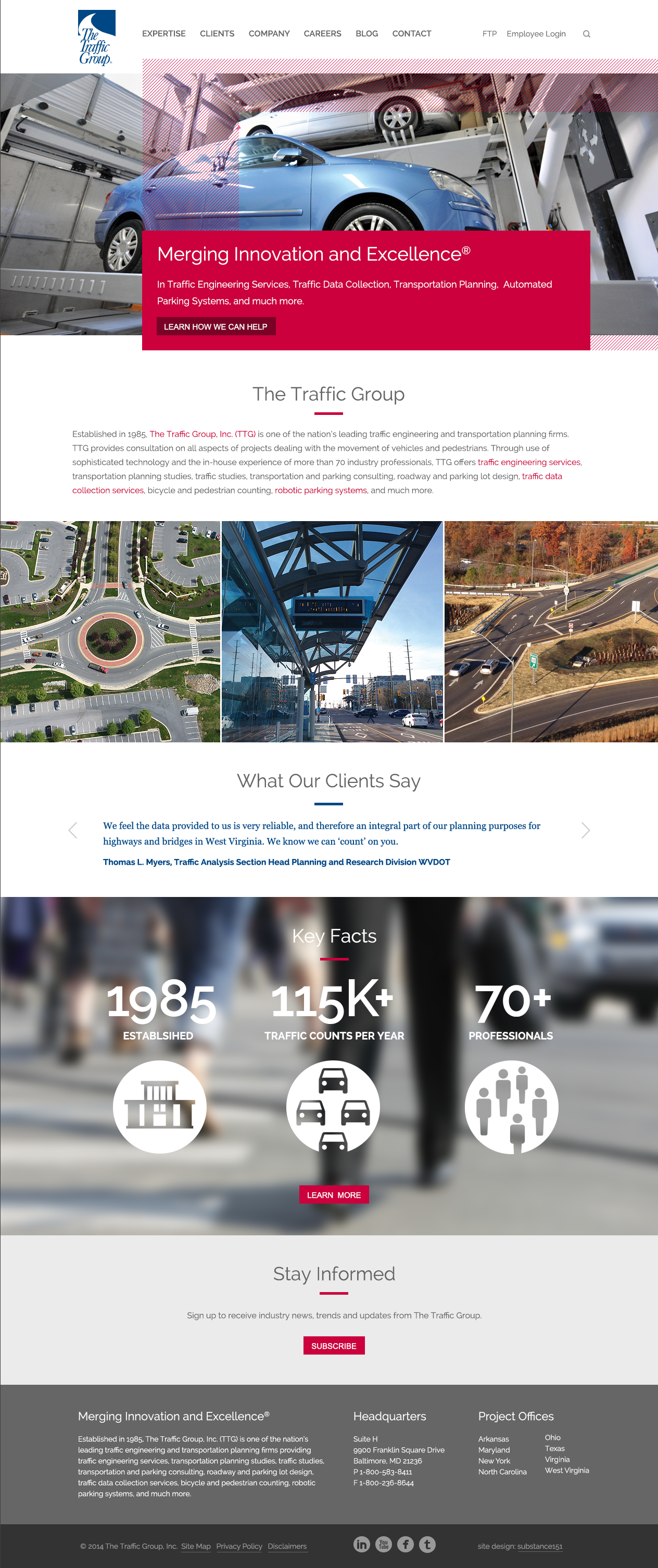 The Traffic Group Marketing Collateral And Website Redesign Website Redesign Marketing Collateral Redesign