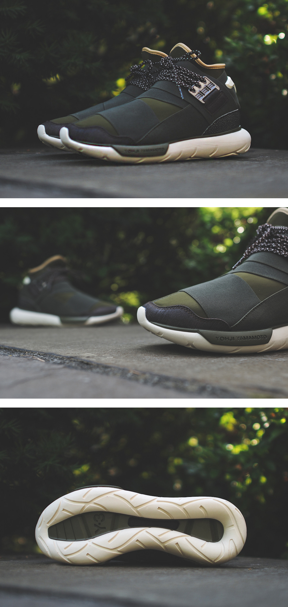 "quality design be197 a7412 Y-3   Qasa High ""Olive Drab"" Shoe Photography, Lazy, Sneaker"