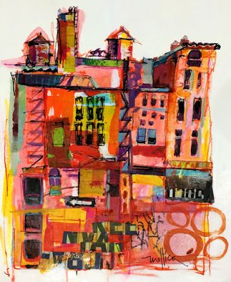 Paintings by Patti Mollica: Union Square, NYC Sketch