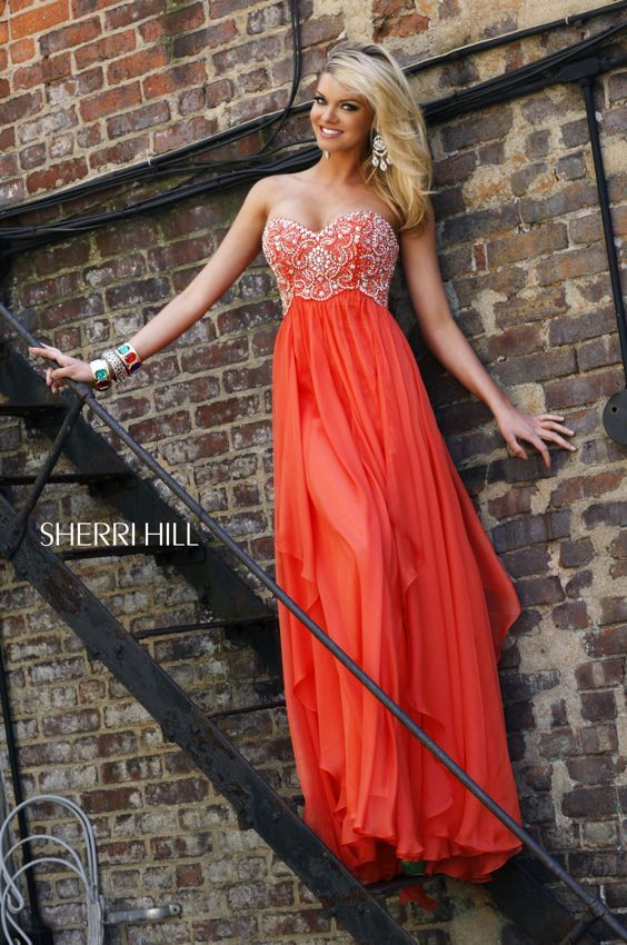 1000  images about Long/orange dresses on Pinterest - Satin ...