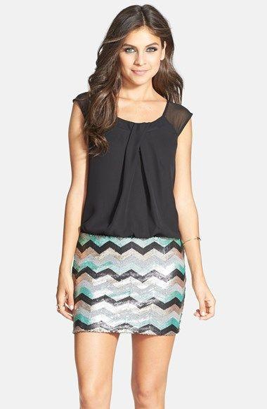 As U Wish Sequin Blouson Dress (Juniors) | Nordstrom | 8th grade ...
