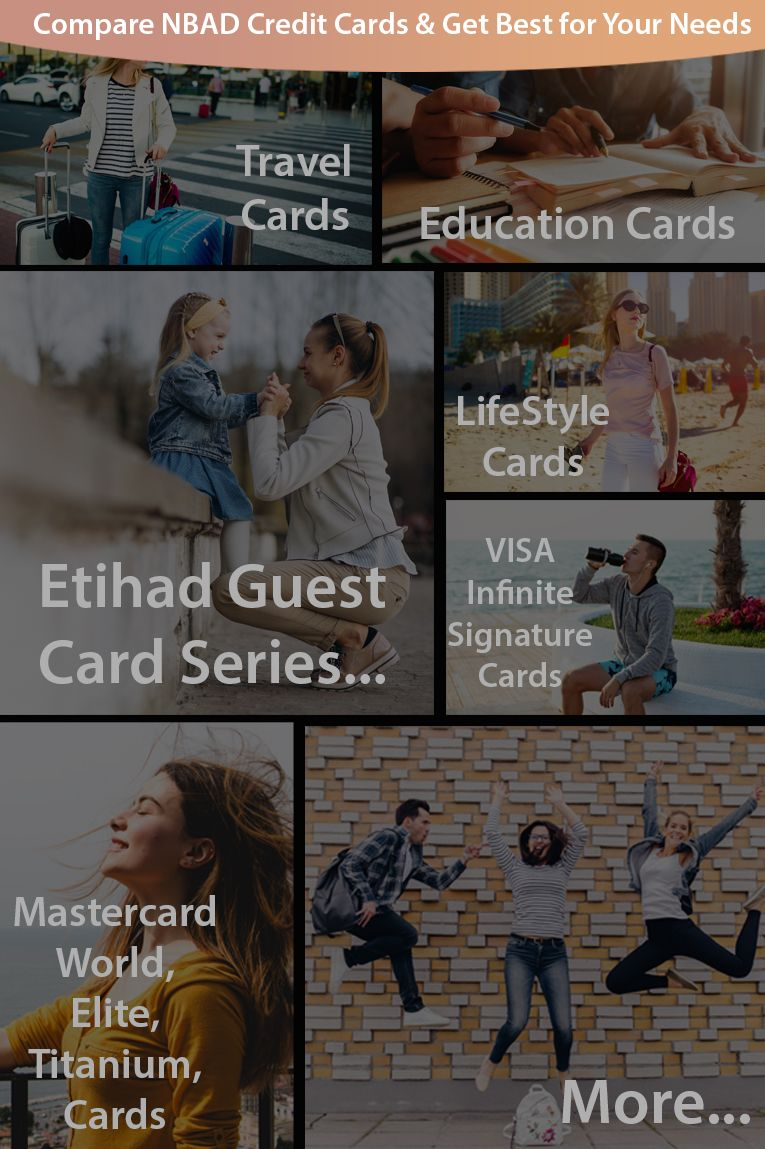 Compare nbad credit cards before you select one for your
