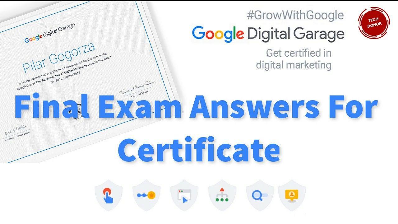 Google Fundamentals Of Digital Marketing 26 Modules Final Exam