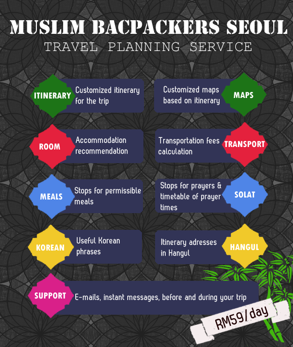 Muslim Backpackers Seoul Planning Service