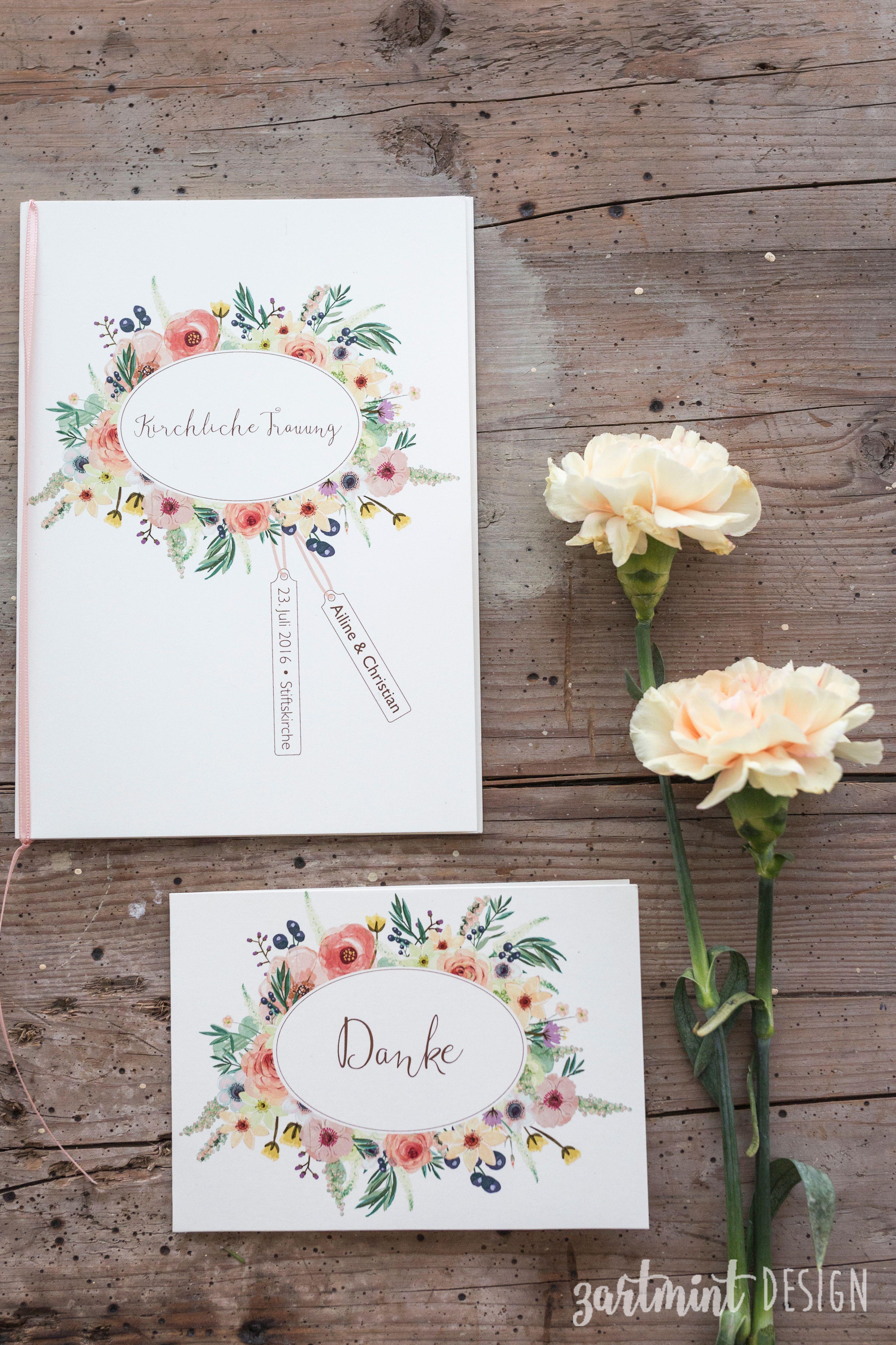 Kirchenheft  Hochzeitspapeterie  Hochzeitseinladung