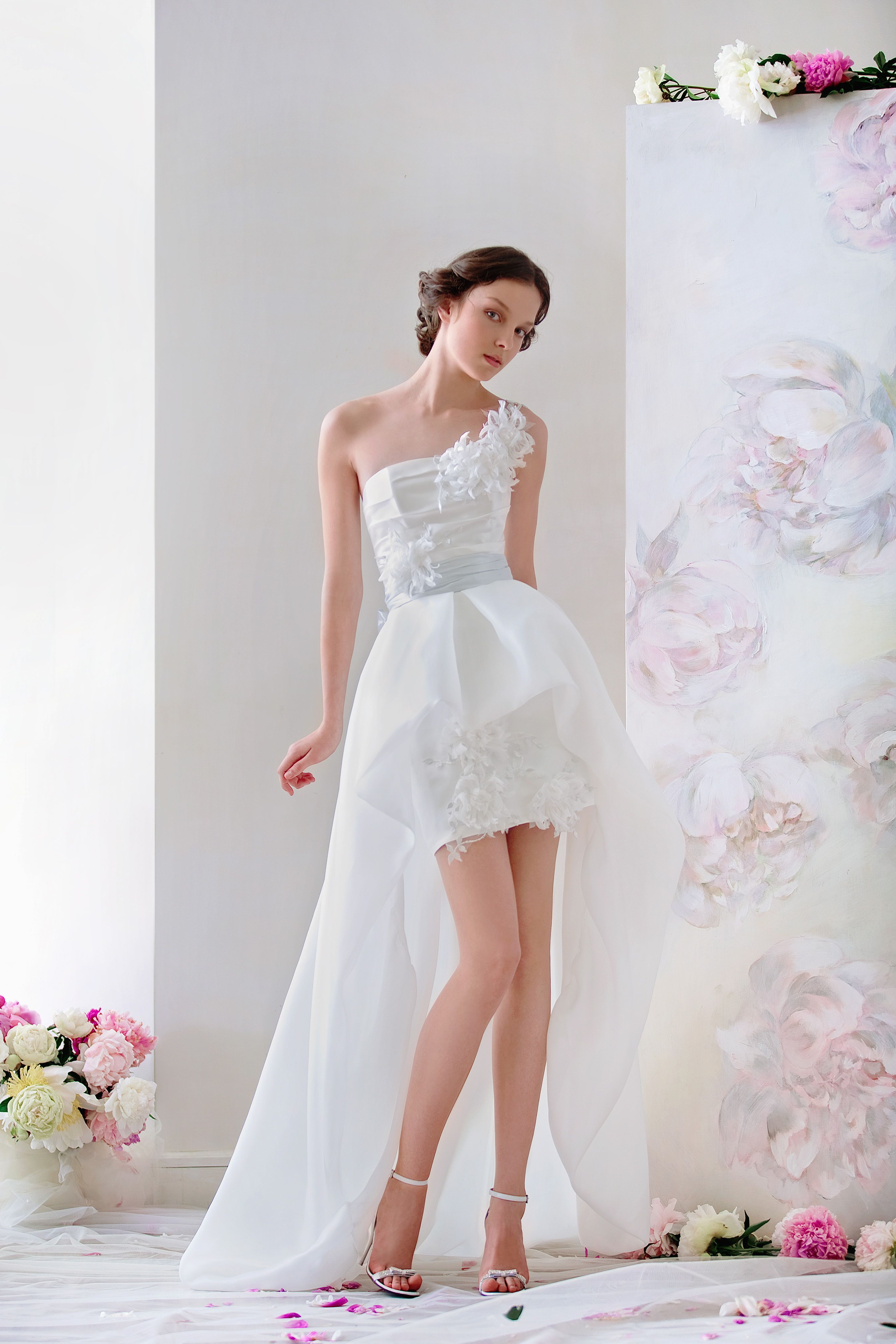 Mini Wedding Dress with trail, from Papilio \
