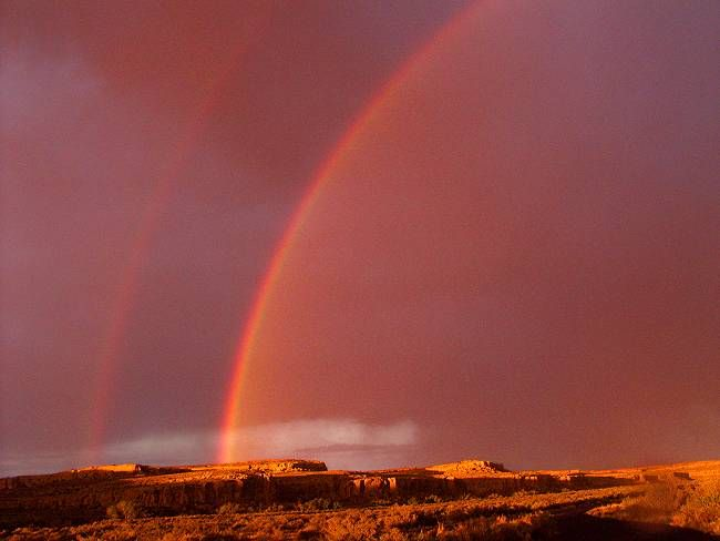 Double Red Rainbows Love Rainbow Rainbow Outdoor