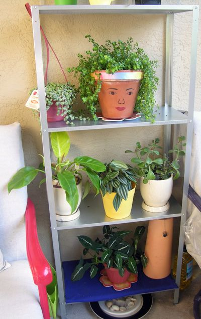 HYLLIS galvanized Shelving unit - More storage for my plants