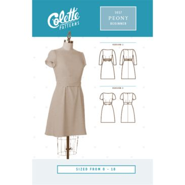 Colette Peony Dress Sewing Pattern - Guthrie & Ghani | DIY - sewing ...