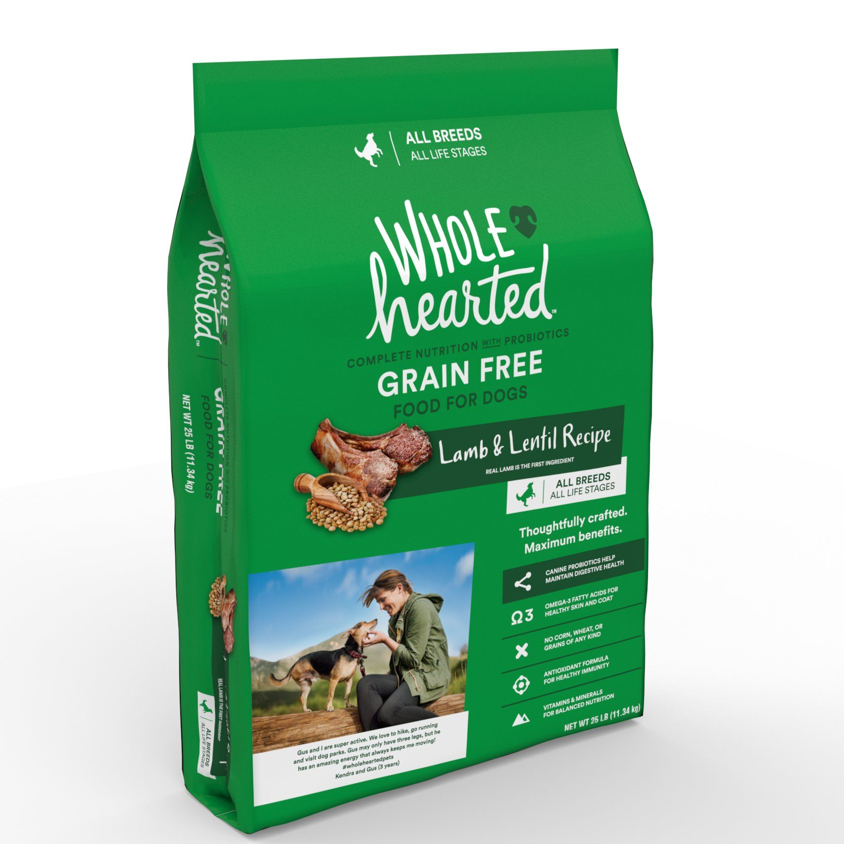 Wholehearted Grain Free All Life Stages Lamb And Lentil Formula
