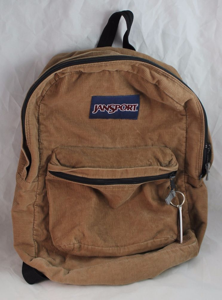 Vintage Brown Corduroy Jansport Backpack Made in USA Full Size Rare 16x12x5  EUC… 82e0f5c87f11d