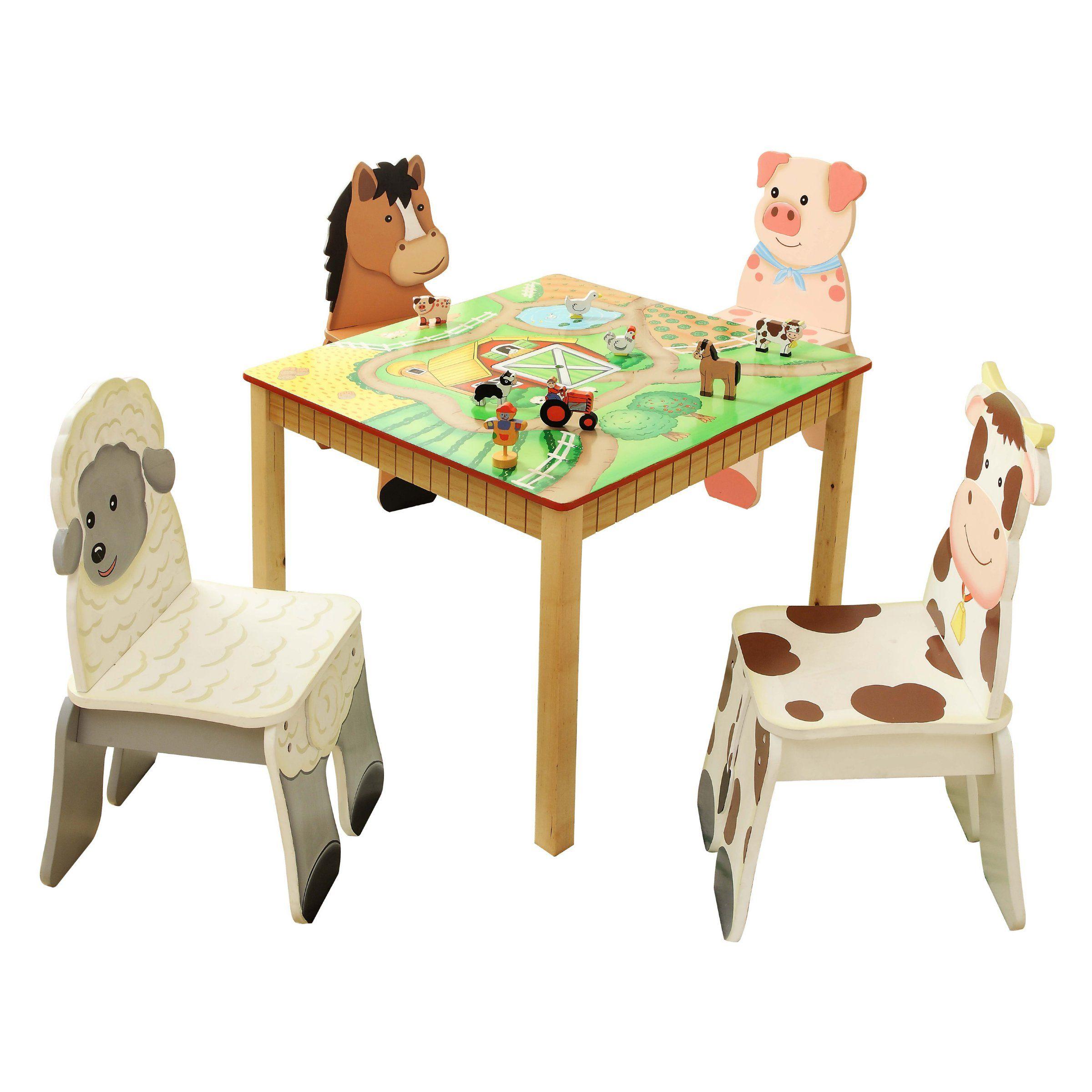 Fantasy Fields Happy Farm Table & Chair Set