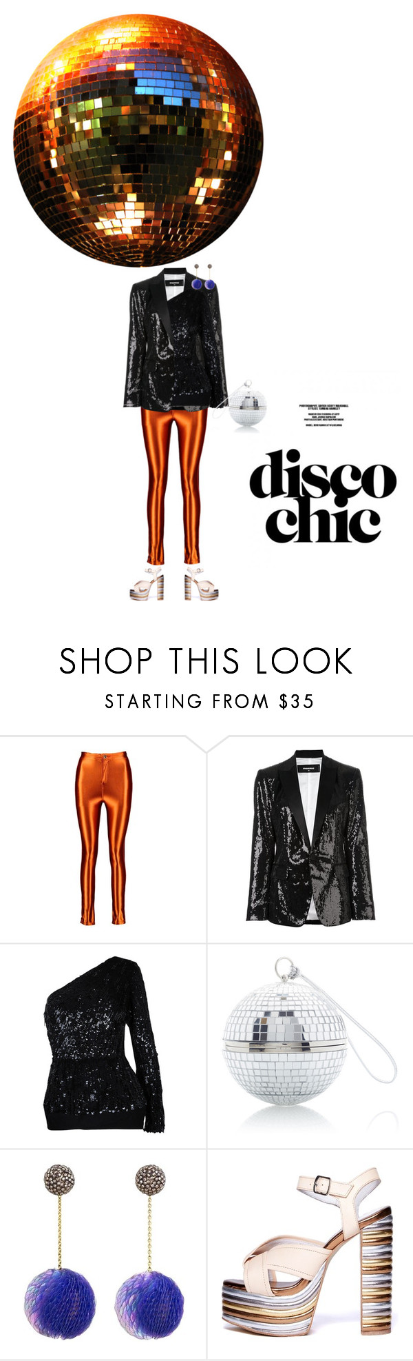 """""""night fever"""" by sharmarie ❤ liked on Polyvore featuring Boohoo, Dsquared2, Elie Saab and Jeffrey Campbell"""