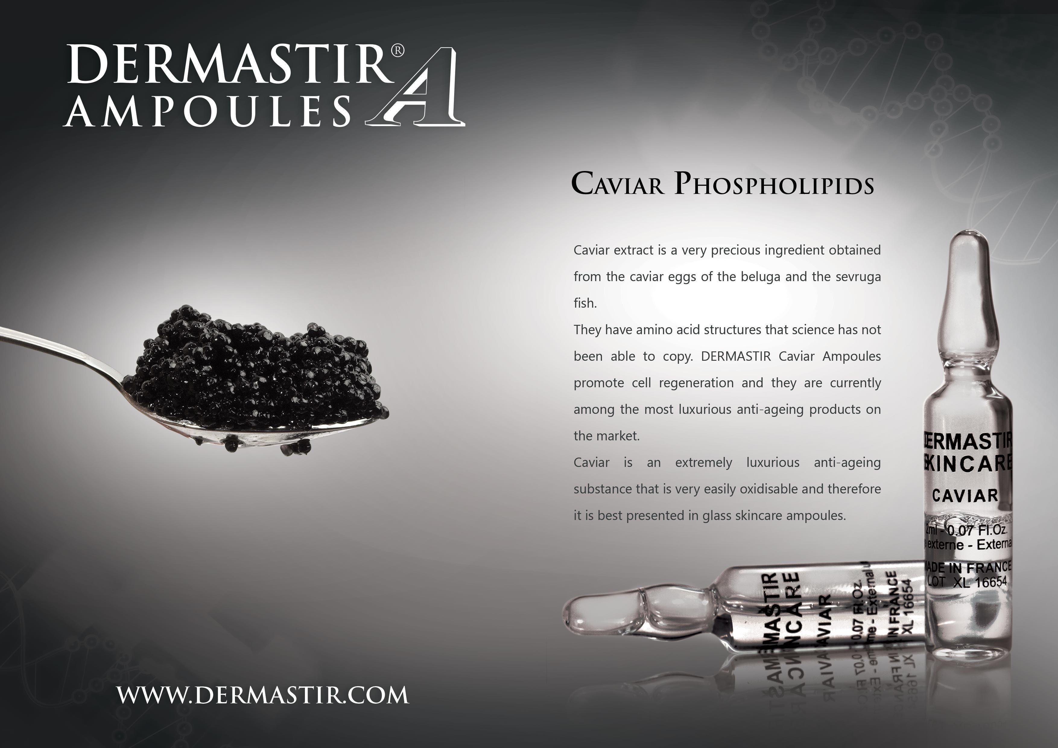 Dermastir Caviar Luxury skincare Ampoules by Alta Care Laboratoires
