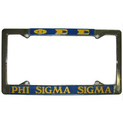 Sigma Sigma Sigma License Plate Frame Rah Rah Co t