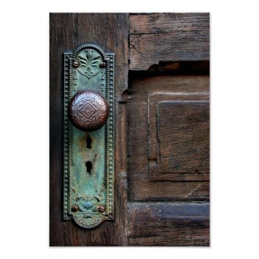 Thanks goes to Ida in Voss, Norway for your purchase!! Poster  w/Options  Old Door Knob by Joanne Coyle
