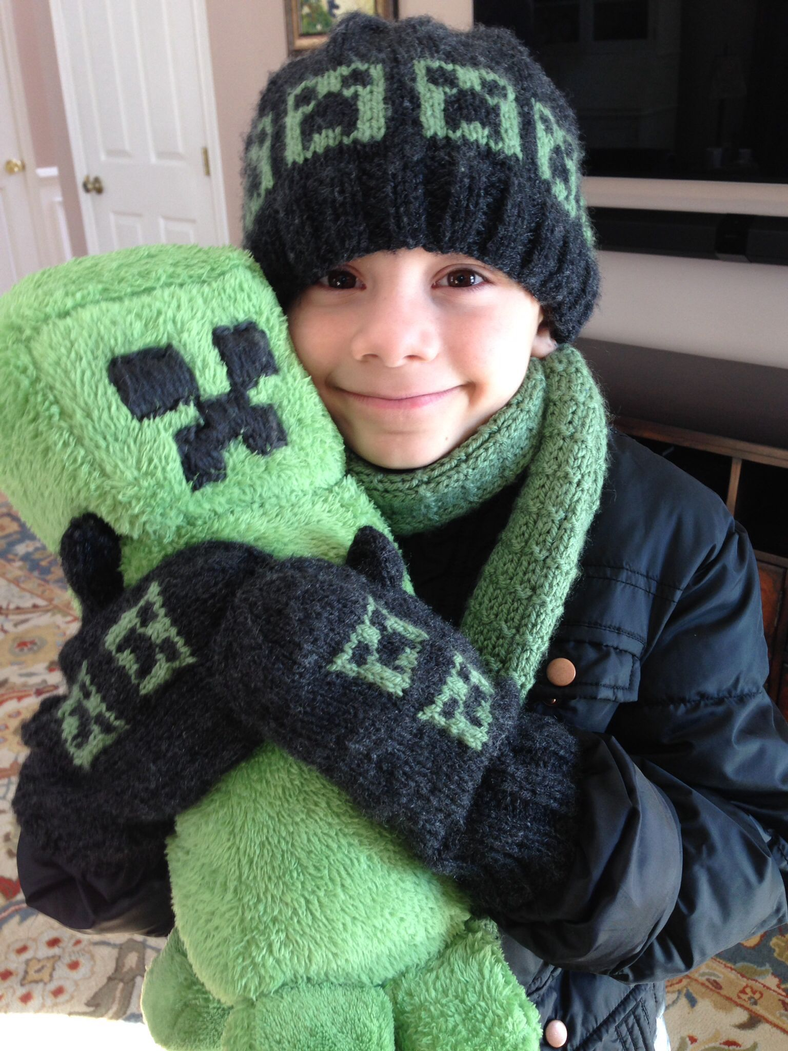 Minecraft hat pattern can be found on Ravelry. Creeper doll cost $30 ...