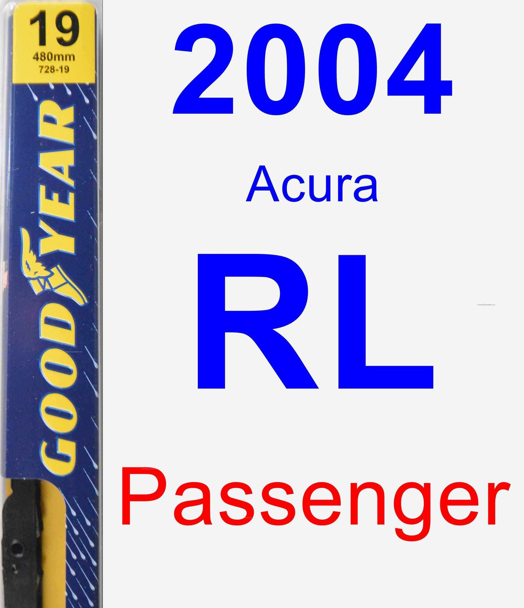 Buy Goodyear Premium , passenger wiper blades for 1995 Acura TL. Size is  guaranteed to fit.