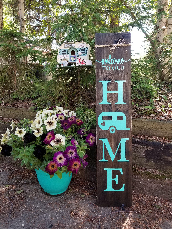 Porch Signs CAMPER Welcome Signs Porch Decor Outdoor ...