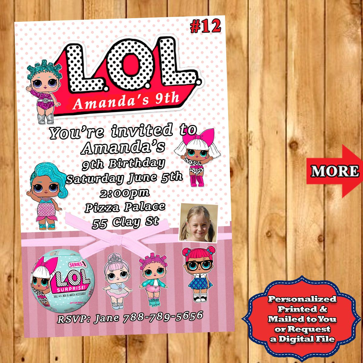 LOL Surprise Birthday Invitations 10 ea with Env Personalized Custom ...