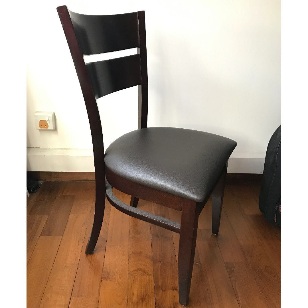 Buy Solid Wood Dining Chairs With Cushioned Seats In Singapore