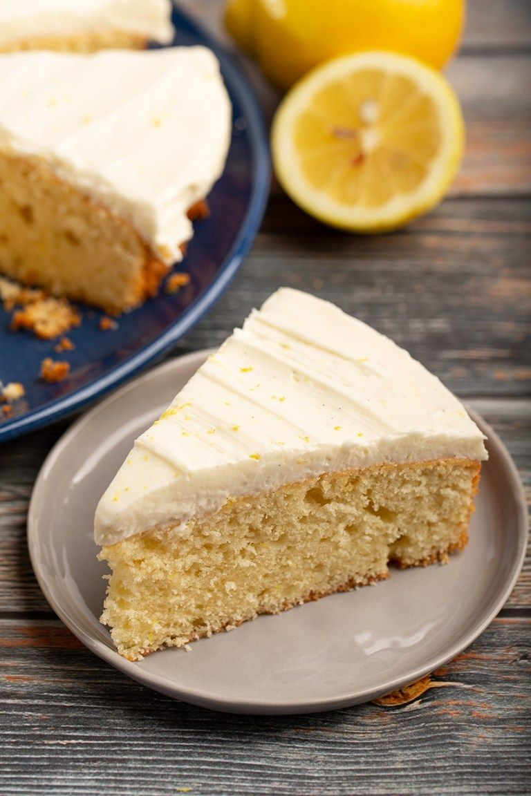 One Layer Lemon Sour Cream Cake The Missing Lokness Sour Cream Cake Lemon Sour Cream Cake Easy Delicious Cakes
