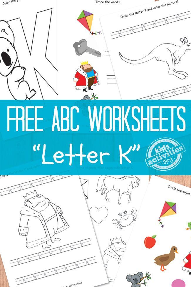 LETTER K WORKSHEETS FREE KIDS PRINTABLE | Logopedia
