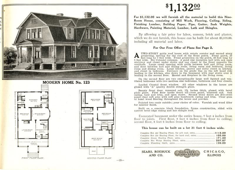 1922 Clarendon By Bennett Homes Dutch Colonial Revival Style Gambrel Roof Kit Houses Gambrel Style Dutch Colonial Dutch Colonial Homes