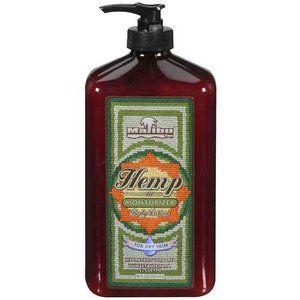 Malibu Tan Body Lotion for Dry Skin Hemp Moisturizer, 18 fl