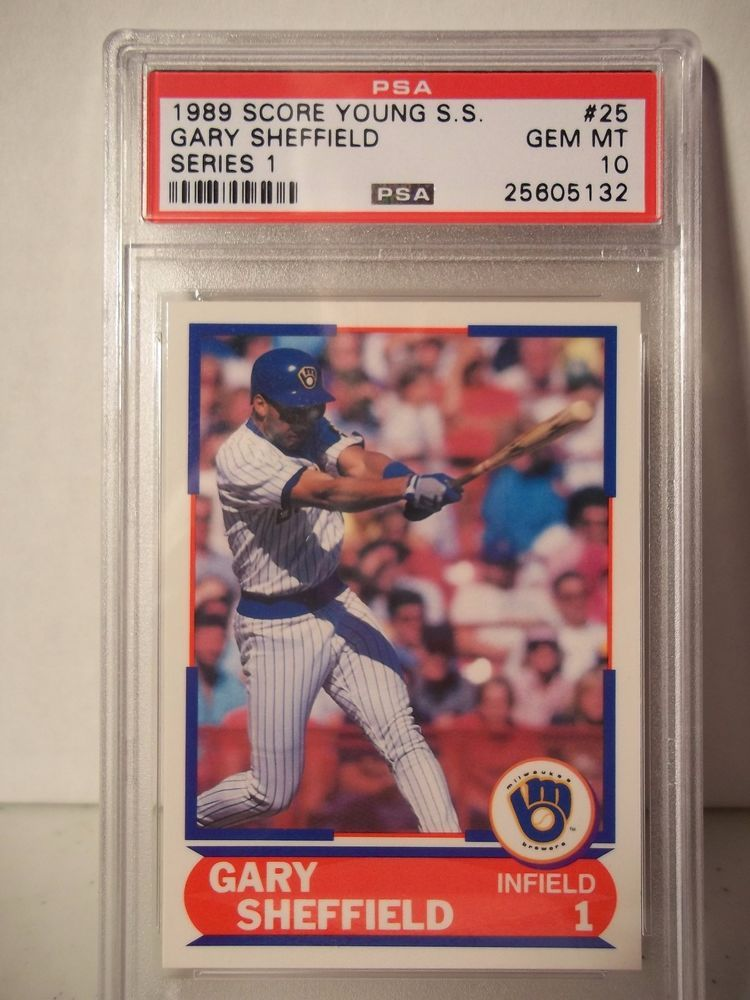1989 Score Gary Sheffield Rc Psa Gem Mint 10 Baseball Card