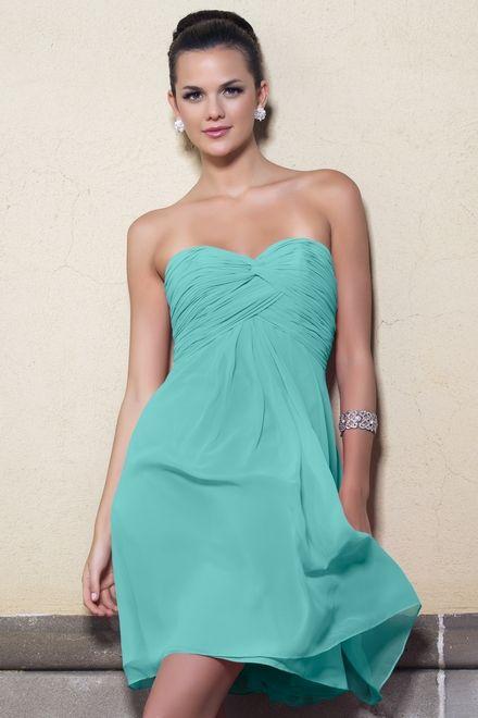Chiffon Ruching,Strapless Style 892 Bridesmaid Dress by Alexia ...