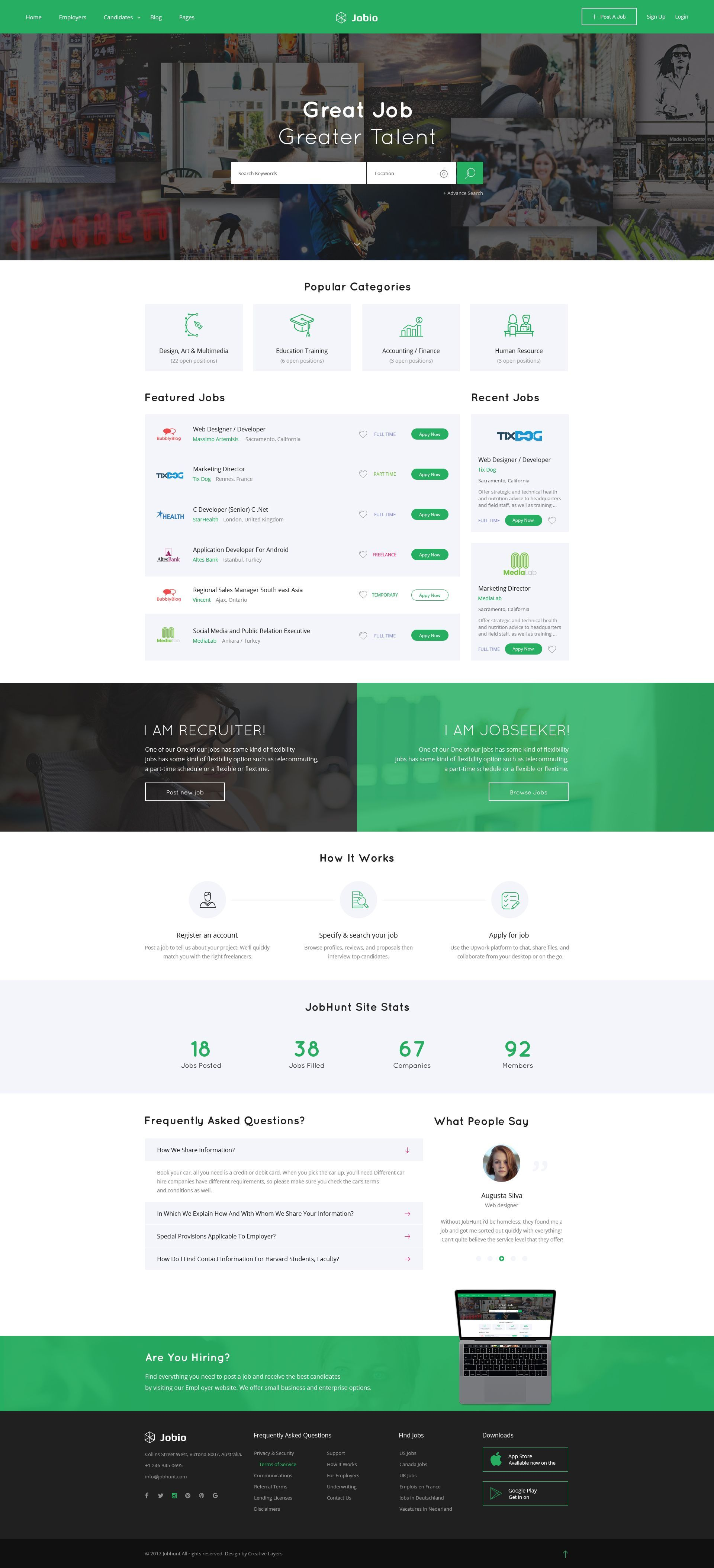 Tips And Tricks To Great Website Design Web Design Tips Recruitment Website Design Fun Website Design Web Layout Design