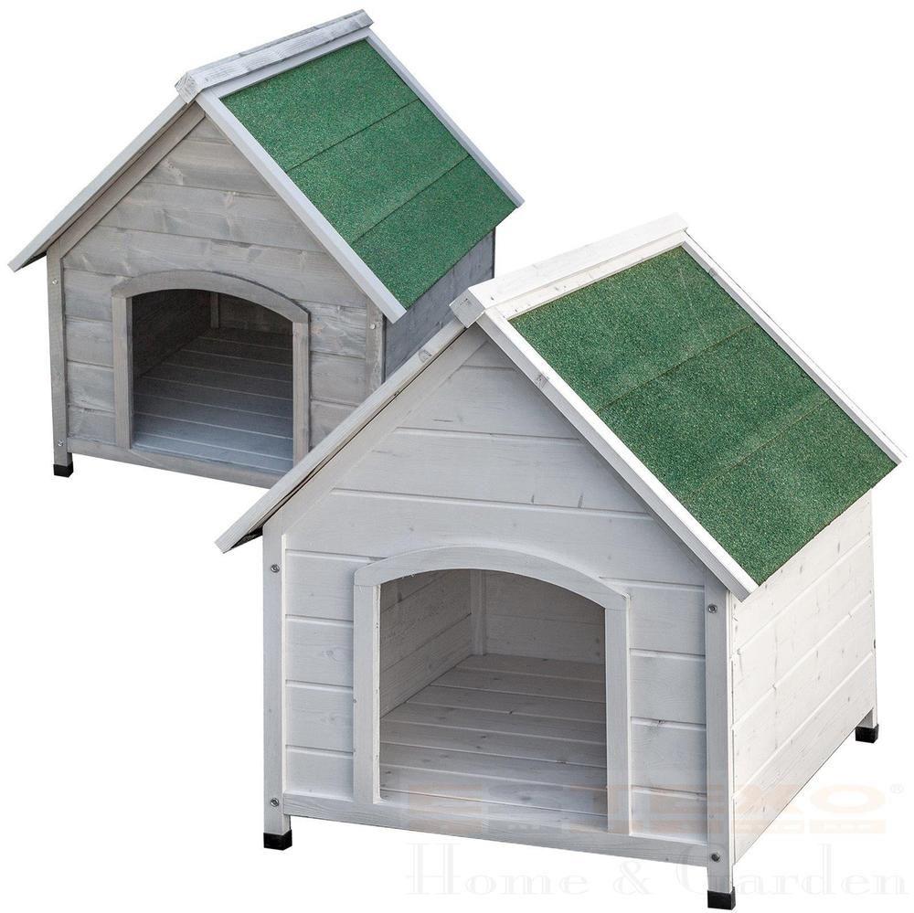 xxl hundehütte weiß oder grau hundehaus hund haus massivholz