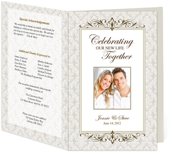 Letter Single Fold  Matrimony Wedding Program Templates Edits - program templates word