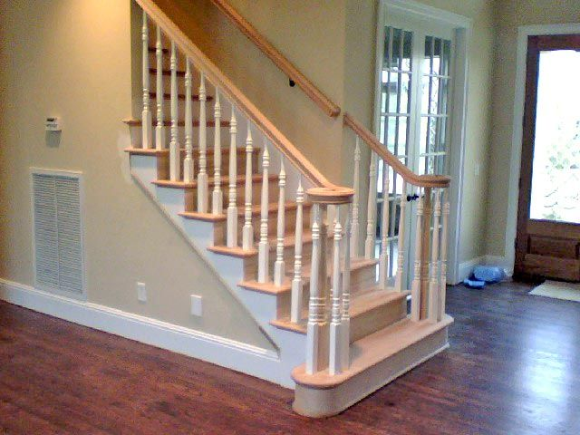 Oak Stairs With White Spindles Oak Stairs Timber Stair Stairs   White Handrails For Stairs Interior   Grey Treads   Safety   Richard Burbidge   Ship Lap   Aluminum