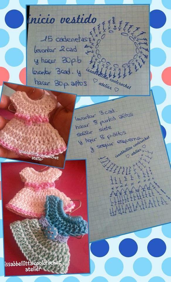 Vestidito patron   Crochet   Pinterest   Patrones, Vestiditos y Tejido