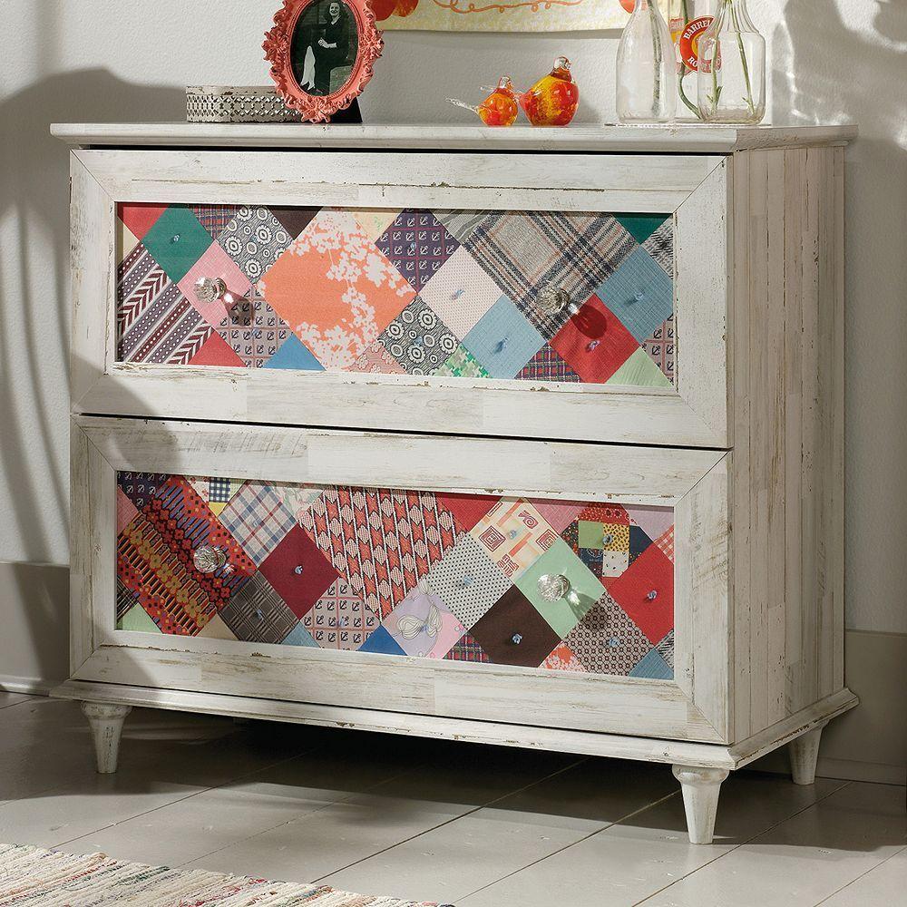 Best Sauder Eden Rue Patchwork Dresser In 2019 Repurposed 400 x 300