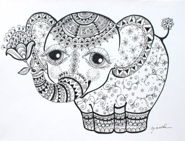 Pin de Tammy Bryan en images for tracing   Pinterest   Elefantes ...