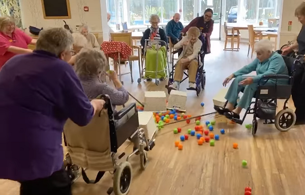 Nursing Home Keeps Residents Smiling With Hilarious Game