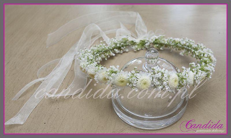 Wianki Komunijne Z Zywych Kwiatow Flower Hair Pieces Flower Crown Wedding Flowers