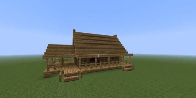 How To Build A Fast Wooden House Minecraft House Designs Wooden
