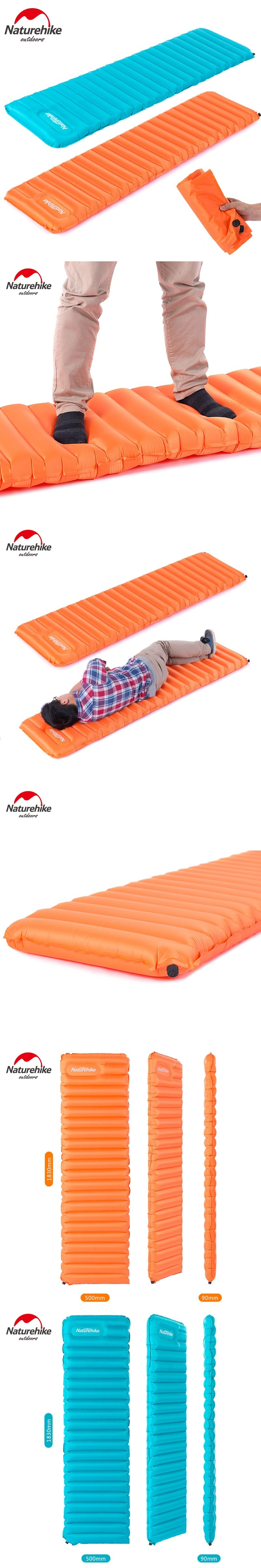 naturehike new 570g manually inflatable cushion camping mat tent air