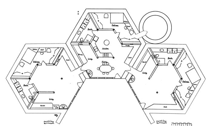 Earth Lodge Plan Some people want larger houses. This can