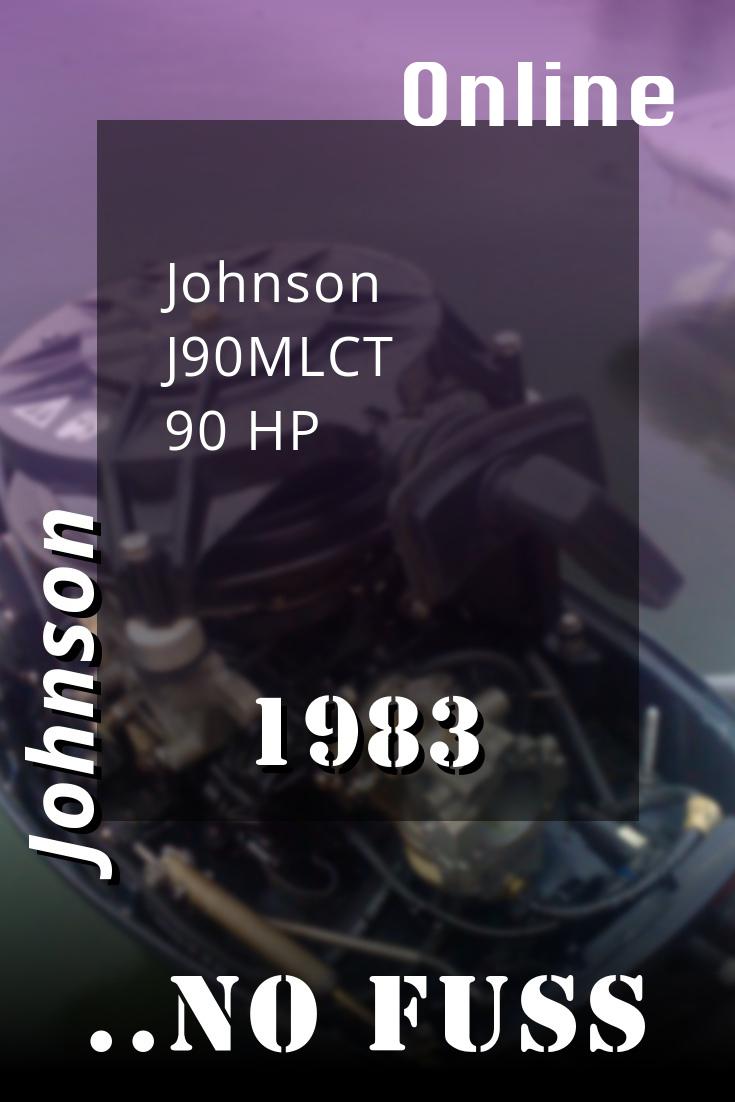 1983 J90mlct Johnson 90hp Outboard Motor Omc 300hp Repair Manuals